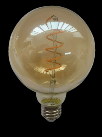 ΛΑΜΠΤΗΡΕΣ LED FILAMENT DIMMABLE AMBER SPIRAL   6W   E27 - G95