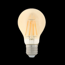 ΛΑΜΠΤΗΡΕΣ LED FILAMENT DIMMABLE AMBER   4W/8W   E27 - A60