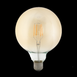 ΛΑΜΠΤΗΡΕΣ LED FILAMENT DIMMABLE AMBER   4W/8W   E27 - G125