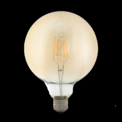 ΛΑΜΠΤΗΡΕΣ LED FILAMENT DIMMABLE AMBER   4W/8W   E27 - G95