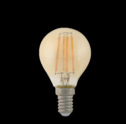 ΛΑΜΠΤΗΡΕΣ LED FILAMENT DIMMABLE AMBER   4W   E14 - P45