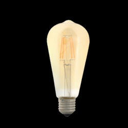 ΛΑΜΠΤΗΡΕΣ LED FILAMENT DIMMABLE AMBER   4W/8W   E27 - ST64