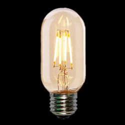ΛΑΜΠΤΗΡΕΣ LED FILAMENT DIMMABLE AMBER   4W   E27 - T45